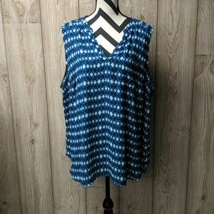 Maurices plus size blue blouse